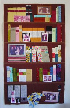 Built-In Bookcase and Family Tree Quilt