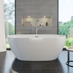 Roubaix Freestanding Bath With Built-In Waste Roubaix Freestanding Bath With Built-In Waste Caitlyn Freestanding Bath Metro 1655 Free Standing Modern Bath Modern Bathroom, Small Bathroom, Master Bathroom, Bathroom Ideas, Bathroom Designs, Family Bathroom, Lodge Bathroom, Master Baths, Attic Bathroom