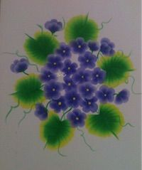 Painting | Decorative | Purple Flower One Stroke Painting | CardsNCrafts