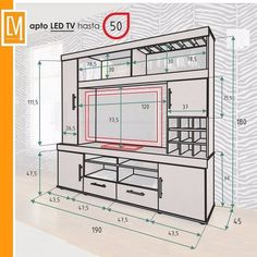 40 Cool TV Stand Dimension And Designs For Your Home – Engineering Discoveries – designer furniture Tv Cabinet Design, Tv Wall Design, Tv Unit Design, House Design, Tv Unit Furniture, Furniture Design, Home Engineering, Modern Tv Wall Units, Tv Stand Designs