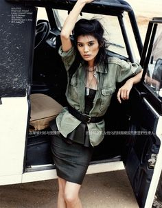 Vogue China Sept 2012 | Army Chic | Ming Xi