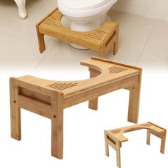 Vtoy Toilet Stool Wood Adjustable Bathroom Squantting Stool for Potty Assistance,Foot Step Stool for Adults Children Toilet Posture and Healthy Bamboo Bathroom, Wood Bathroom, Potty Stool, Toilet Step, Buy Bamboo, Adult Children, Walmart, New Homes, Furniture