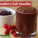 Cranberry-Kale Antioxidant Green Smoothie Recipe with Coconut