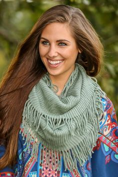 Whispering Winds Infinity Scarf-Willow