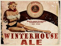 Winterhouse Ale Beer Sign (Enameled Steel Sign) in Folk Art & Primitives | eBay