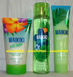 Waikiki Beach Coconut Bath Body Works Fragrance Mist Body Cream Coconut Scrub - Full Sized and Unused You are in the right place about Skincare dicas Here we offer you the most be - Bath Body Works, Bath N Body, Bath And Body Works Perfume, The Body Shop, Beauty Hacks Eyelashes, Bath And Bodyworks, Body Mist, Smell Good, Body Lotion