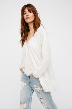 Ivory Sea Breeze Top at Free People Clothing Boutique
