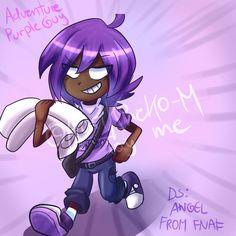 Adventure Purple Guy- (Art Trade)- Angel From FNAF by AdriKoneko-Mizuiro.deviantart.com on @DeviantArt