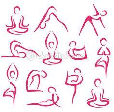 Gran conjunto de símbolos de la yoga