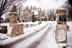 It's a Winter Wonderland inside and out the original home of Clement Studebaker!