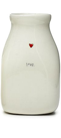 From the Heart: Ceramic vase by Beth Mueller