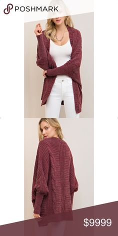 COMING SOONCABLE DOLMAN SWEATER CARDIGAN PLEASE LIKE THIS LISTING TO BE NOTIFIED WHEN IT BECOMES AVAILABLE Sweaters Cardigans