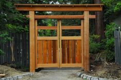 japanese garden Save this Japanese Backyard Gate Undertaking I - Tor Design, Japan Design, Gate Design, Japanese Fence, Japanese Garden Design, Wooden Garden Gate, Wooden Gates, Garden Rake, Backyard Gates