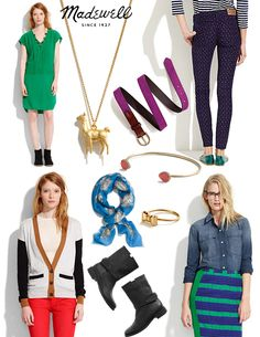 Madewell, inspiration, outfits, accessories, shoes, scarf, jewelry    http://www.stylejuncture.com/2012/08/madewell-style-sessions.html