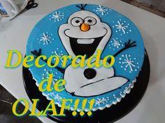 Pastel decorado de OLAF de Frozen - YouTube
