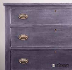 At this time of year, the colors most often used in projects and media are red and green. So I was pleased when I had a request to use another combination on a chest of drawers for a young l…