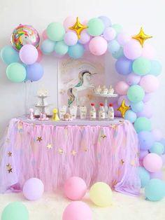 Pastel Rainbow Unicorn Balloons with GOL on Mercari Rainbow Unicorn Party, Unicorn Themed Birthday Party, Rainbow Birthday Party, Birthday Balloons, Unicorn Balloon, Unicorn Party Decor, 5th Birthday, Rainbow Party Decorations, Birthday Party Decorations