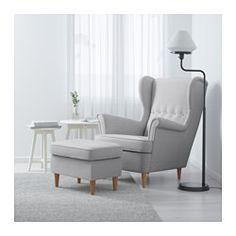 IKEA - STRANDMON, Sillón orejero, Skiftebo amarillo, , El respaldo alto de esta silla te ofrece un apoyo óptimo para el cuello y, por tanto, favorece el relax.10 años de garantía. Consulta las condiciones en el folleto de garantía.