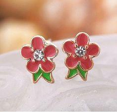 New fashion Beautiful Betsey Johnson Gift flowers earrings A138 - http://designerjewelrygalleria.com/betsey-johnson/new-fashion-beautiful-betsey-johnson-gift-flowers-earrings-a138/