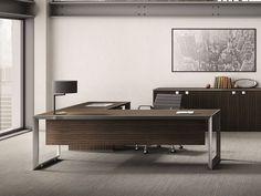 Büroschrank design  JER 05 Design Büroschrank, Regal für Chefzimmer in Nussbaum mit ...