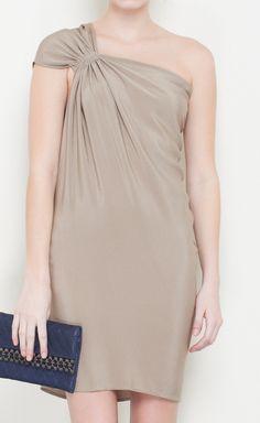 Silk Taupe Dress