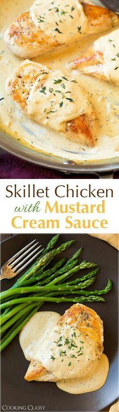 Skillet Chicken with Mustard Cream Sauce