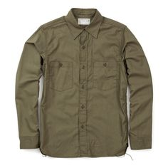 The Real McCoys N-3 Utility Shirt - Olive (Plain) - ALL PRODUCT - CATEGORIES - Superdenim