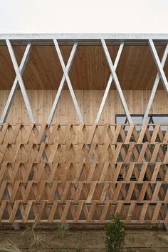 Image 4 of 27 from gallery of Reconstructed Past / MABIRE REICH Architectes. Photograph by Guillaume Satre Wooden Wall Design, Wooden Walls, Facade Architecture, Landscape Architecture, Chinese Architecture, Futuristic Architecture, Architectural Writing, Masterplan, Wood Facade