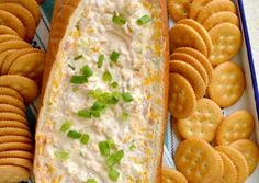 Gonna Want Seconds - Mississippi Sin Dip. Sour cream, cream cheese, cheddar, ham ,green onions, etc. Bake in hollowed out French bread for one hour wrapped in foil.