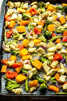 This Sheet Pan Honey Dijon Chicken with butternut squash is a delicious meal that comes together in just about 30 minutes - use it as your weekly lunch prep or as a quick after-work dinner!