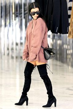 Women Stretch Suede Slim Thigh High Sexy boots #kendalljenneroutfits