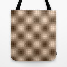 Houndstooth Brown & Cream small Tote Bag by Julie's Thingummies - $22.00 Small Tote Bags, Hounds Tooth, Dog Teeth, Fabric Design, Fabrics, Reusable Tote Bags, Cream, Brown, Classic