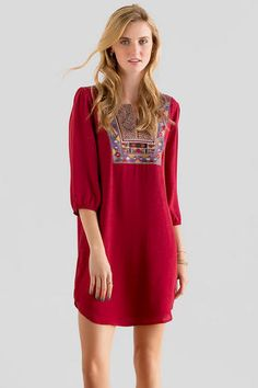 Aimee Embroidered Shift Dress