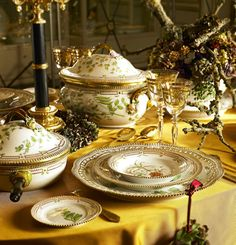 The most expensive china in the world... Flora Danica by Royal Copenhagen.