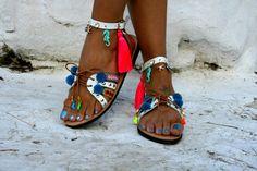 FREE SHIPPING Bohemian Gladiator Leather Sandal : Tinos
