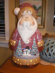 Ceramic Santa Claus Decoration by MariaECollection on Etsy,