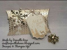 Tags and Trimmings pillow box stampin up. - YouTube
