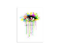Tęczowe oko, Obraz na płótnie - Canvas | Internetowy sklep z obrazami Feeby.pl