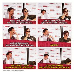 Jon & Norman, impersonating each other's characters
