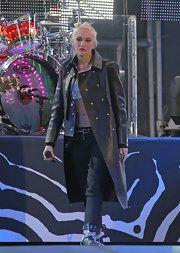 Gwen Stefani Leather Coat