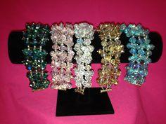 Three strand celestial blight brown crystal by SassyGirlJewelrycom, $35.00