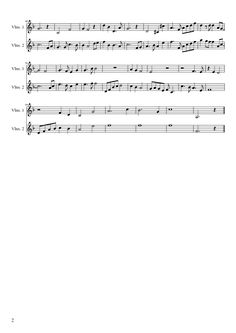 Sheet music made by DaughterOfHim97 for 2 parts: Violins 1, Violins 2