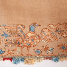 Greek Embroidery 52 x 277 cm Turkish Fashion, Turkish Style, Gold Embroidery, Ancient Greek, Folklore, Primitive, Vintage World Maps, Carving, Tapestry