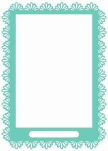 Silhouette Design Store - View Design #66674: lacy shell frame with opening
