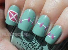 Kite Manicure! | Kappa Alpha Theta #theta1870
