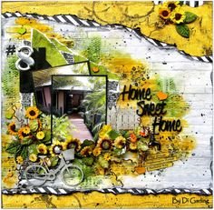 Scrap Around The World: June 2014 Challenge 14 A Stunning & Dramatic Summer Mood Board By Di Garling