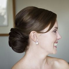 Soft chignon... would look good with the comb ;)