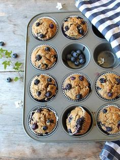 Blueberry Burst Breakfast Muffins ~ protein rich morning deliciousness