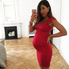 How to Update a Bodycon Dress to Fit Your Baby Bump   Brit + Co