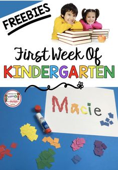 FREE First Day of Kindergarten Lesson Plans - Back to School -First Week